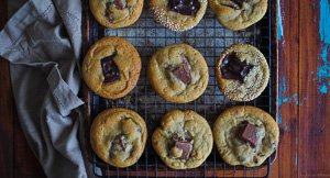 The 5 C's Cookies - Chewy Chunky Salted Caramel Choc Chip Cookies!