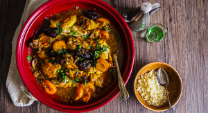 Date Night With Chicken, Date & Apricot Tagine!