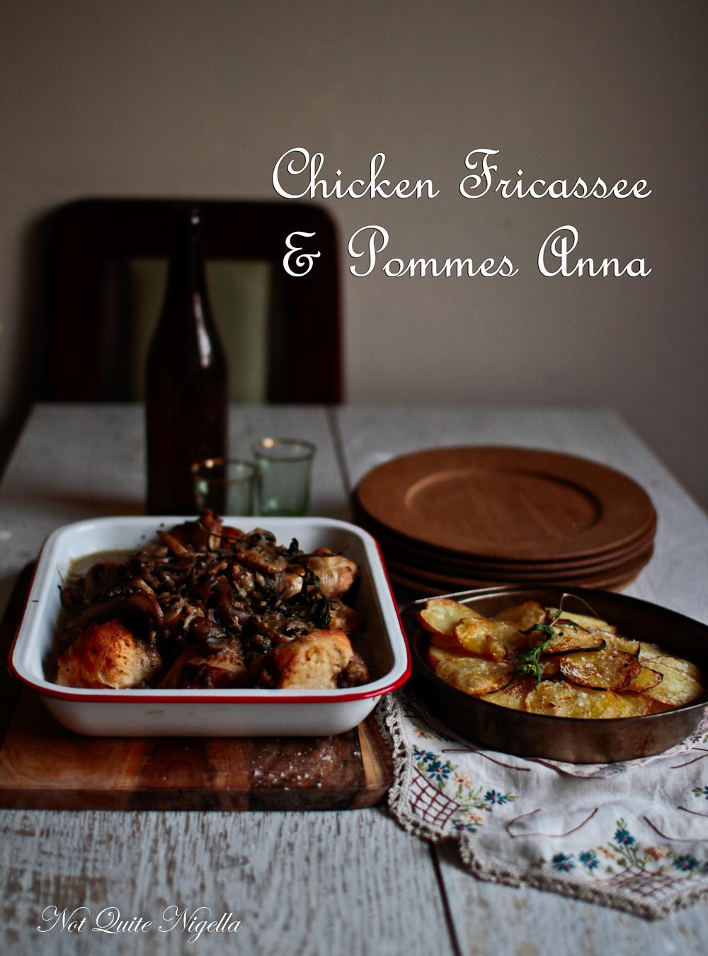 Chicken Fricassee Pommes Anna