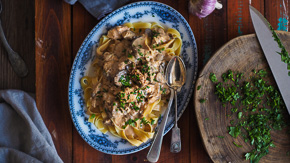 CREAMY Chicken Stroganoff {Slow Cooker, Pressure Cooker, Stovetop!}