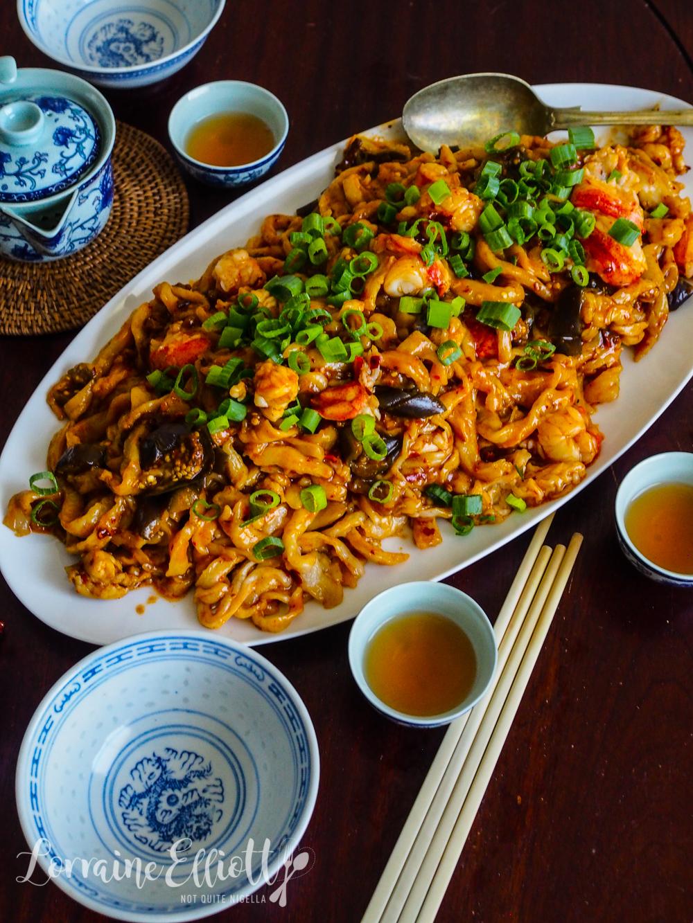 Lobster Noodles Hand made