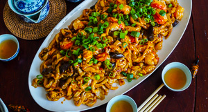 Spicy Lobster & Eggplant Noodles For Lunar New Year