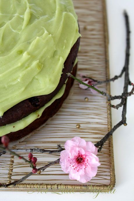 Chocolate & Avocado Cake with Avocado Buttercream