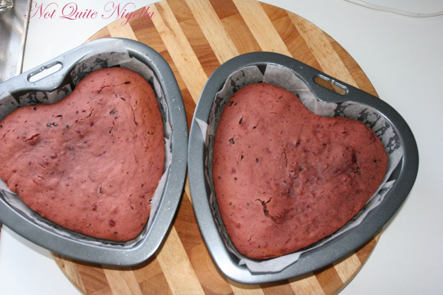 Chocolate beetroot cake baked