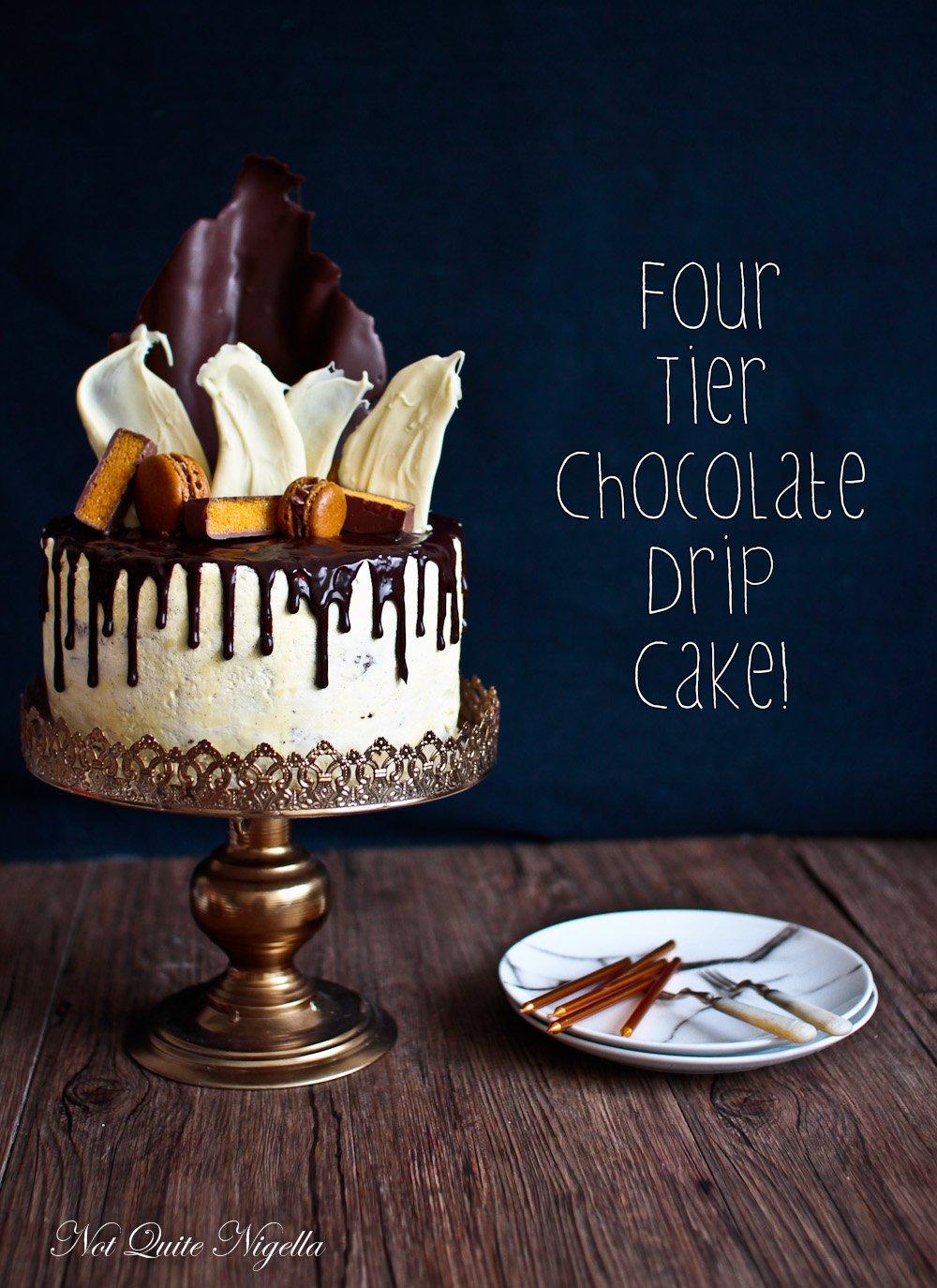 Chocolate Layer Drip Cake