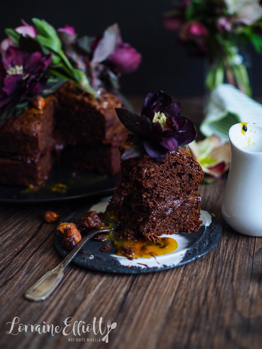 Chocolate Passionfruit & Hazelnut Cake