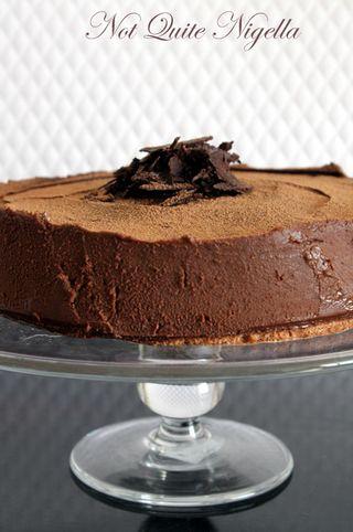 Chocolate Lavender Meringue Truffle Cake