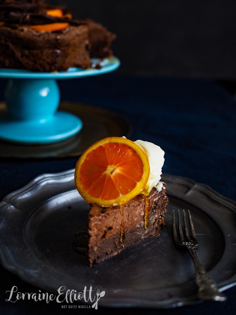 Chocolate Mousse Orange Cake