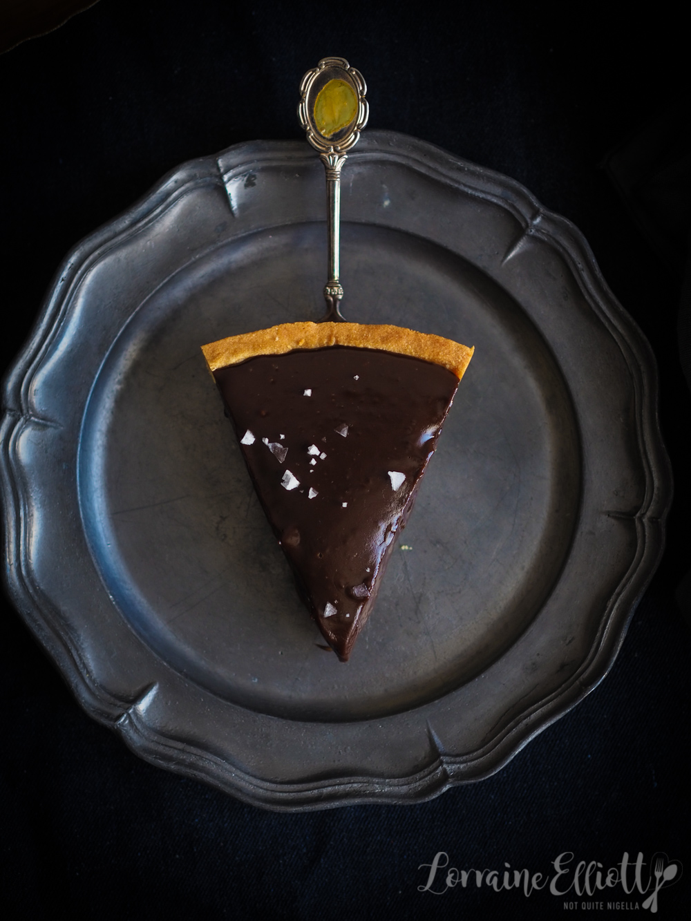 Chocolate Passion Fruit Caramel Tart