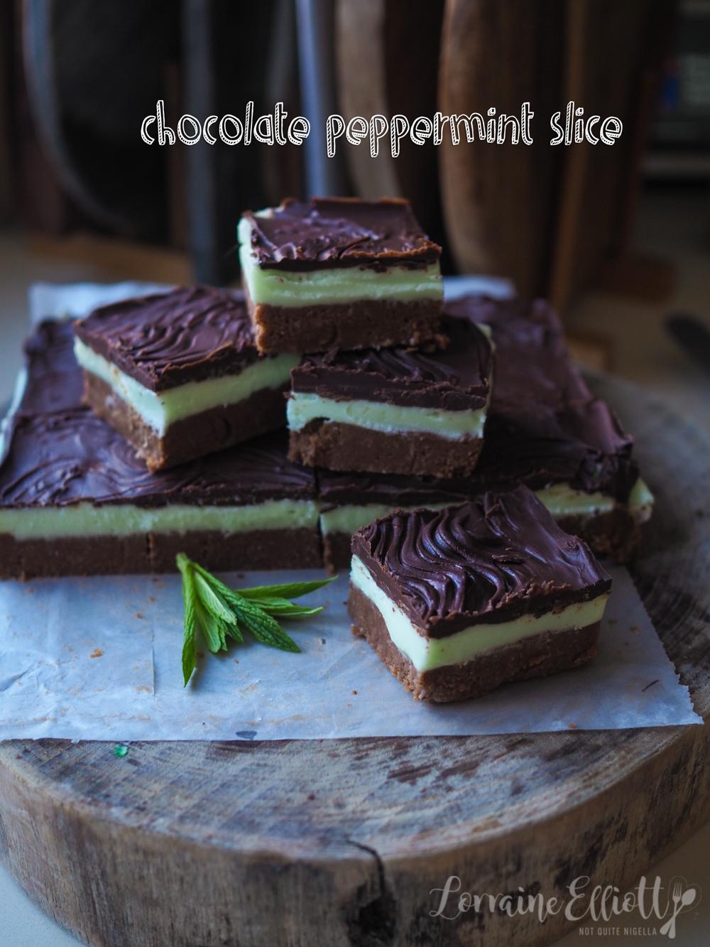 Chocolate Peppermint Slice
