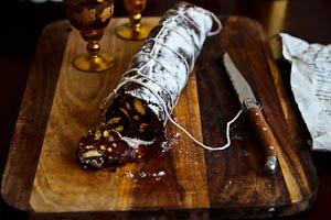Decadent Chocolate Salami for Christmas