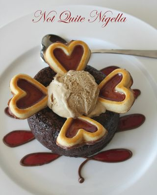 Chocolate Valentine Cake with Cafe Au Lait Ice Cream-Daring Bakers February 09