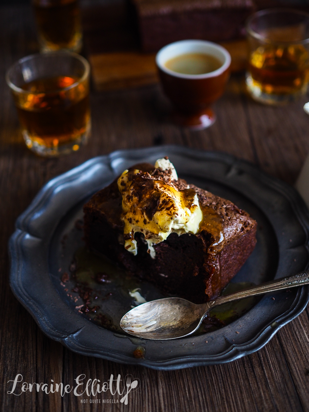 Chocolate Whisky Brownies With Whisky Butterscotch Sauce