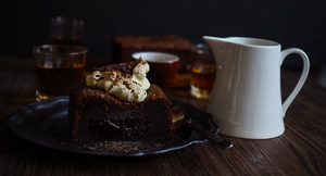 Nightcap Chocolate Whisky Brownies With Whisky Butterscotch Sauce!