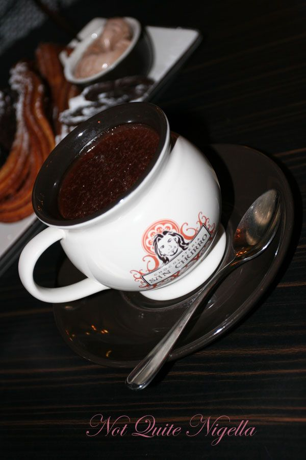 Chocolateria San Churro hot chocolate