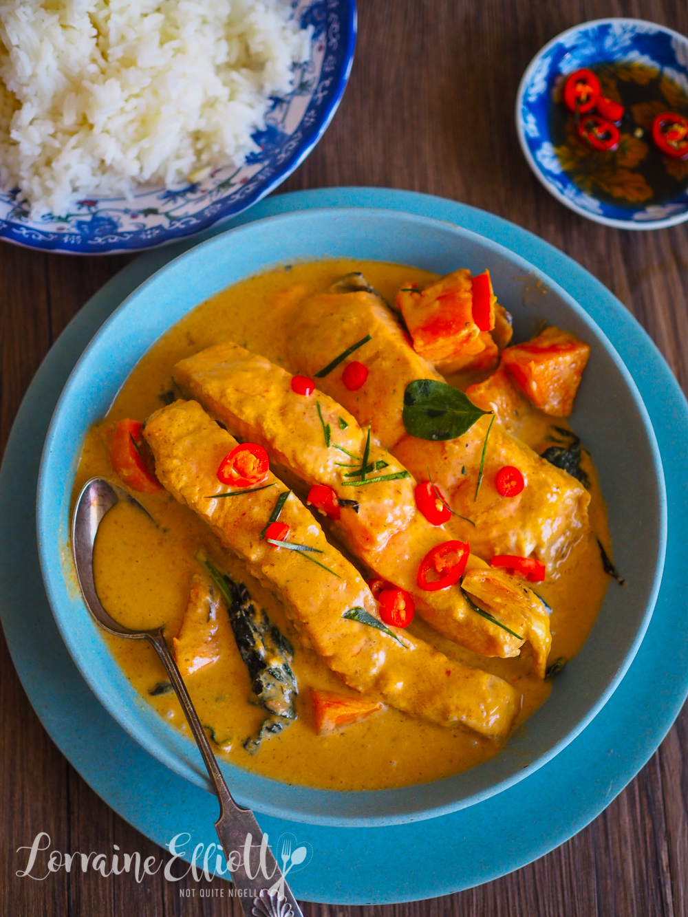 Salmon Choo Chee Thai Curry