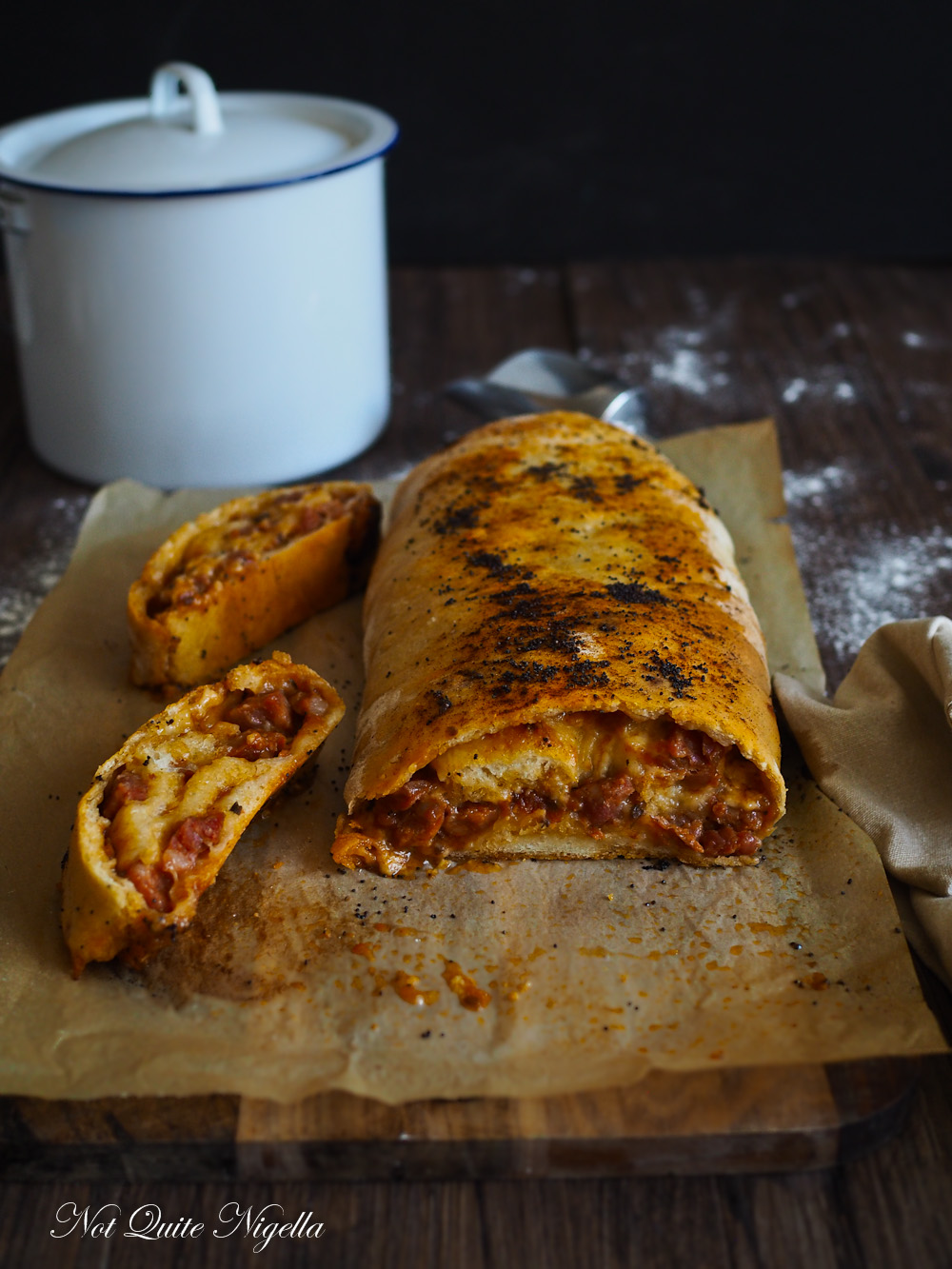 Chorizo Cheese Strudel Bread