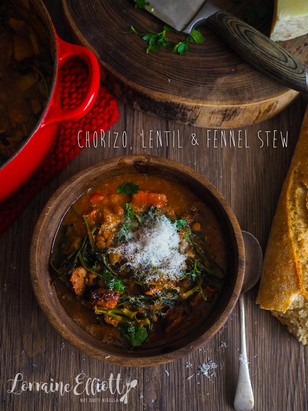 Chorizo, Lentil & Fennel Stew