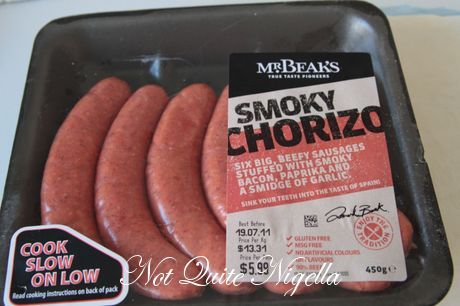chorizo sausage roll