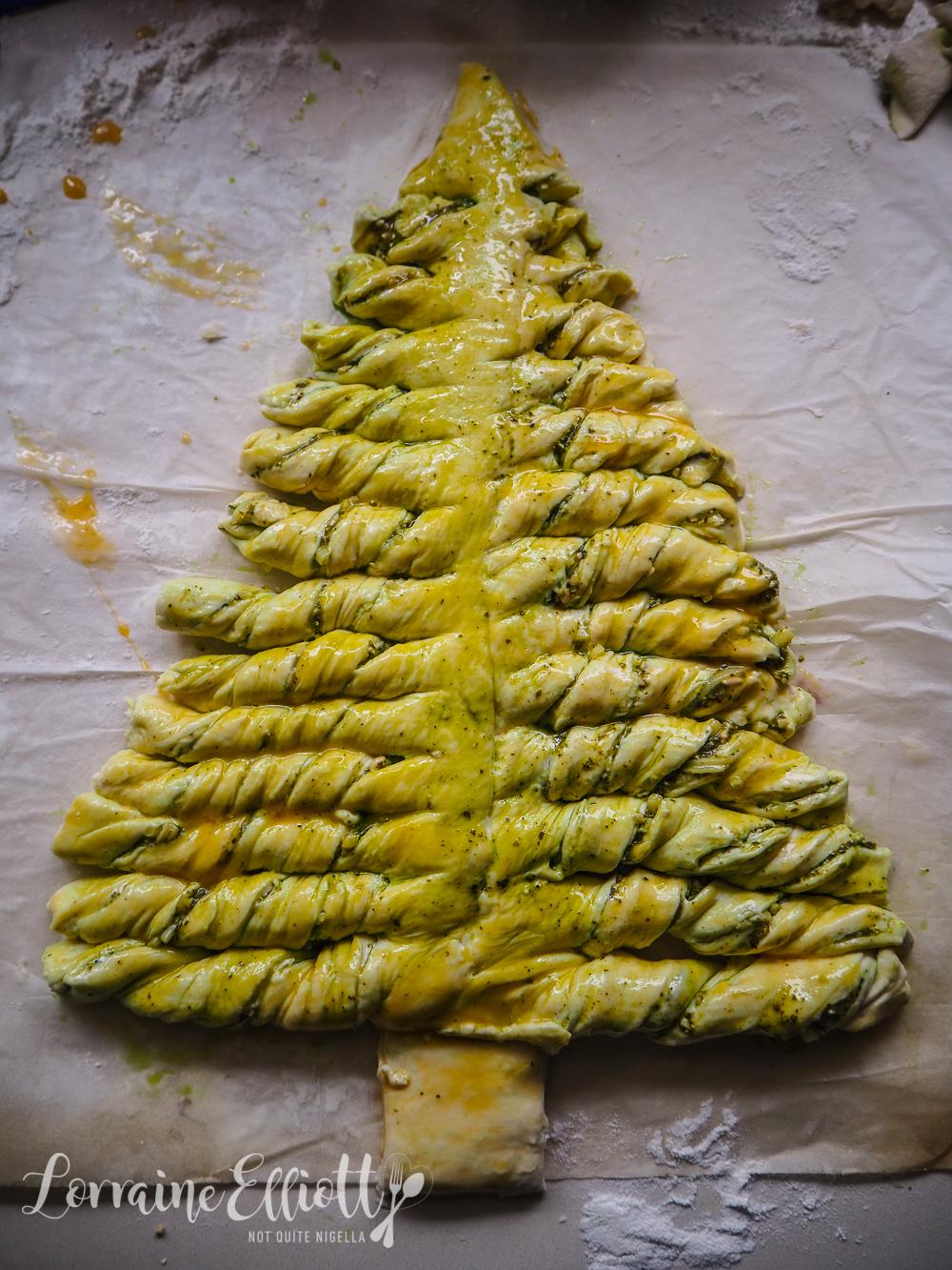 Christmas Tree & Wreath Twist Bread