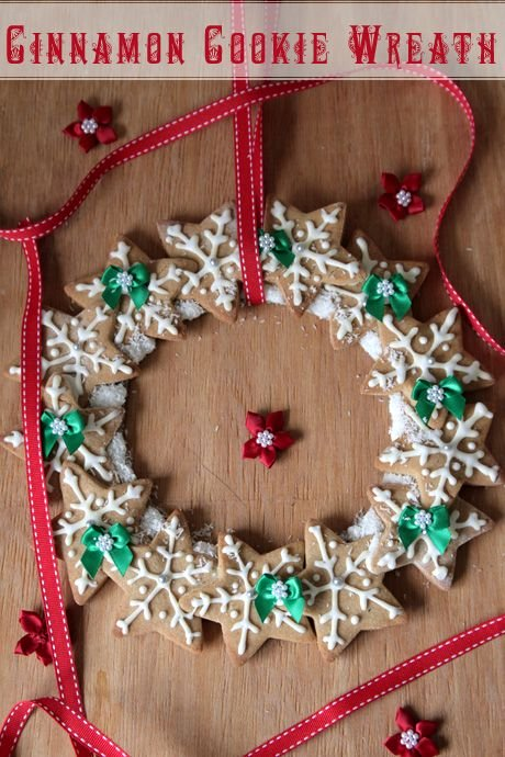 christmas cookie wreath