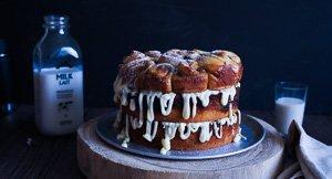 Giant Triple Decker Cinnamon Roll Layer Cake