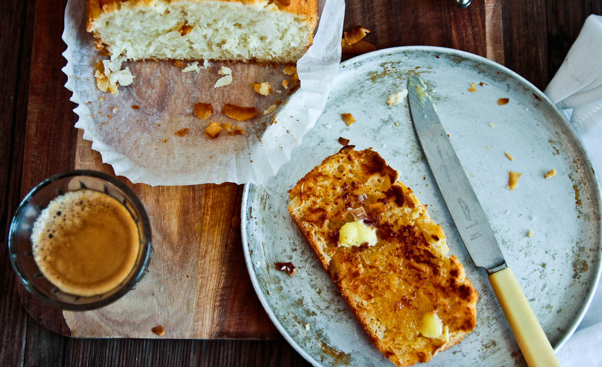 Toasted Coconut & Lime Bread @ Not Quite Nigella