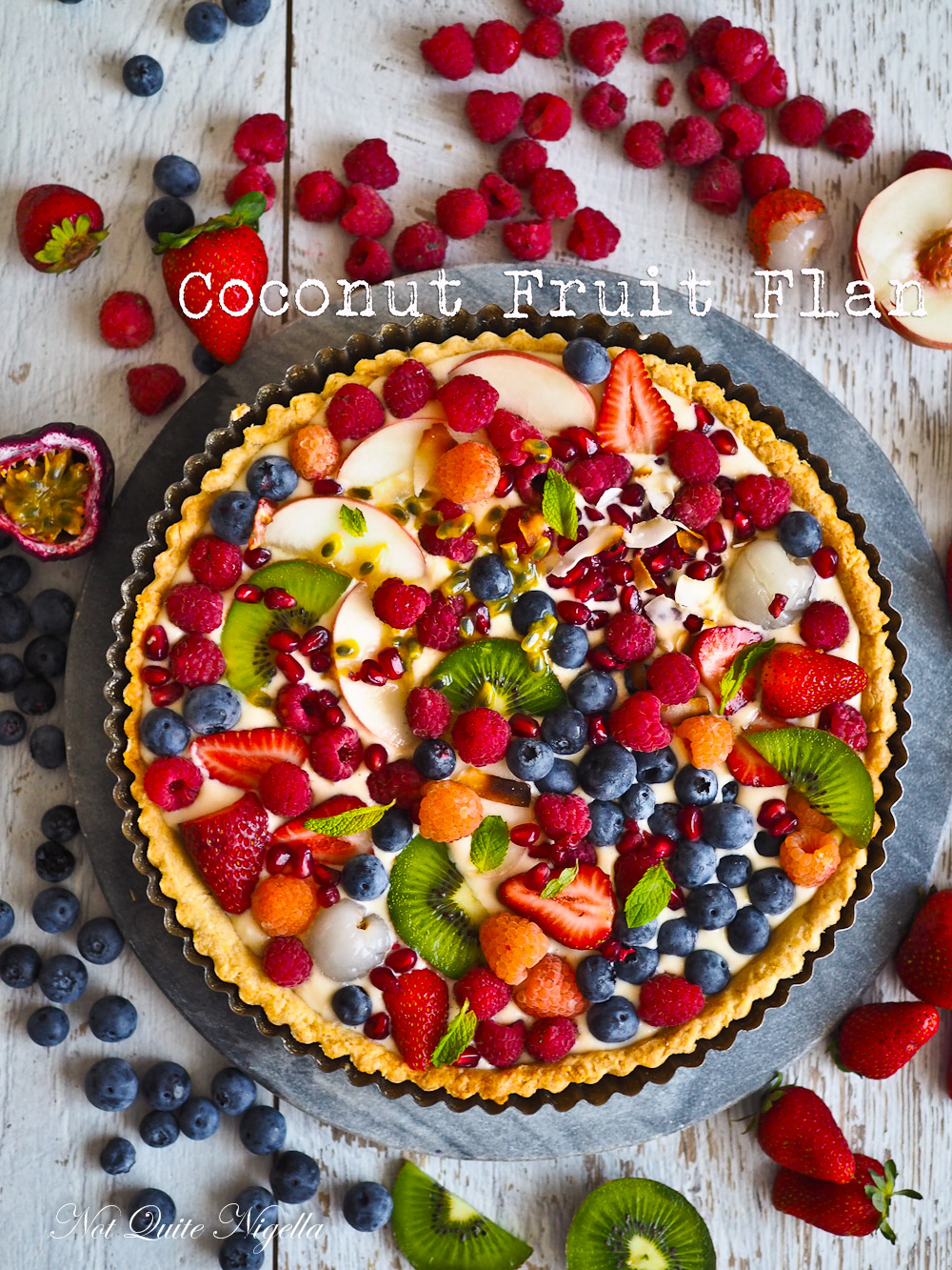 Coconut Fruit Flan