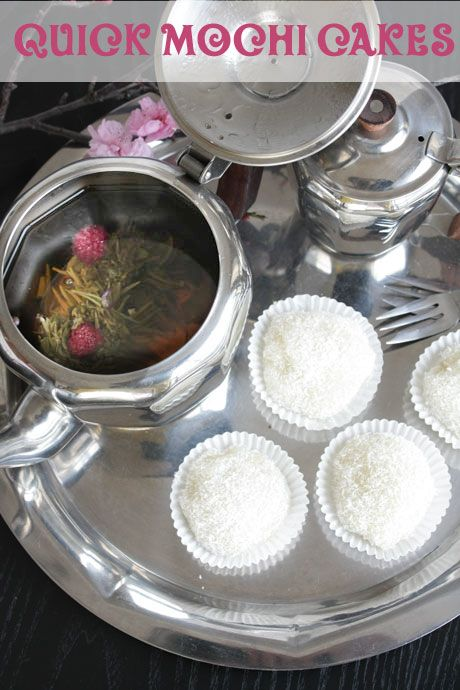 Mochi Cakes With Coconut Jam