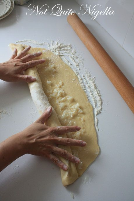 rolling up pastry
