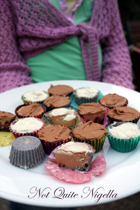 Cooking with Kids - Three flavours of Peanut Butter Cups: Butterscotch Double Peanut Butter, Cookies & Cream, Cinnamon & Praline