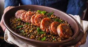 Italian New Year Tradition: Cotechino With Lentils!