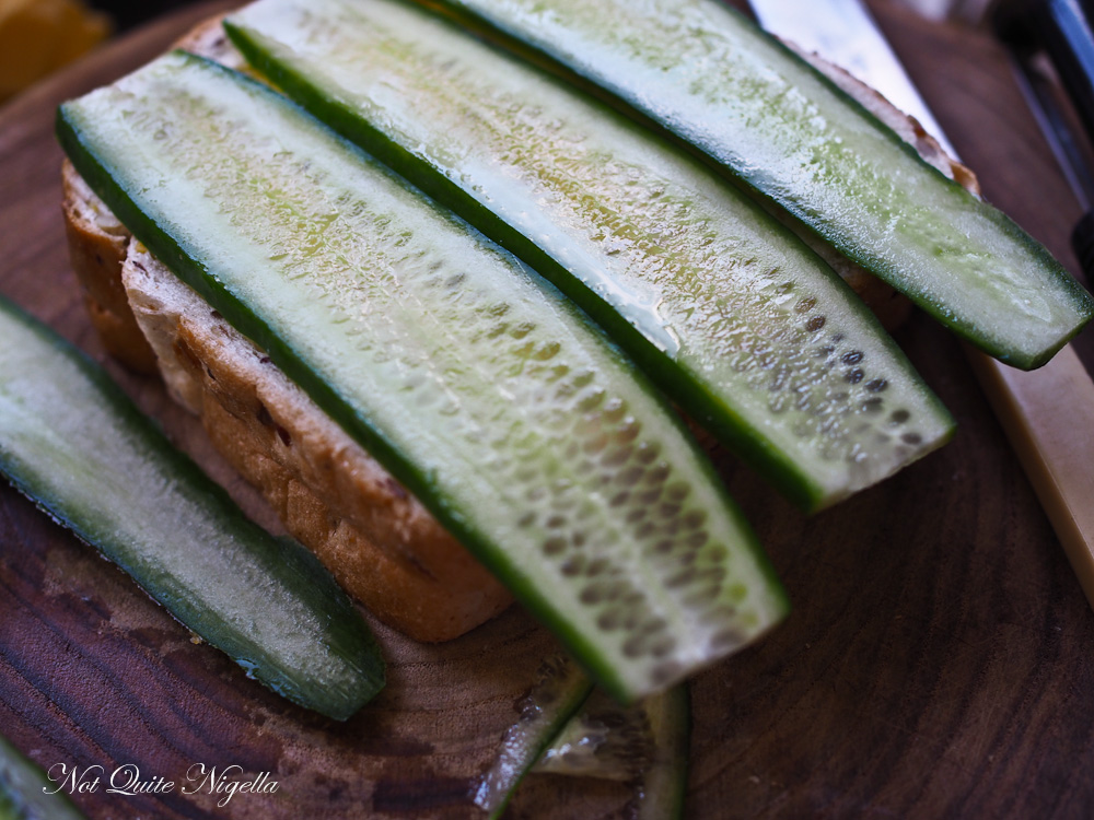 Crab Cucumber Sandwich