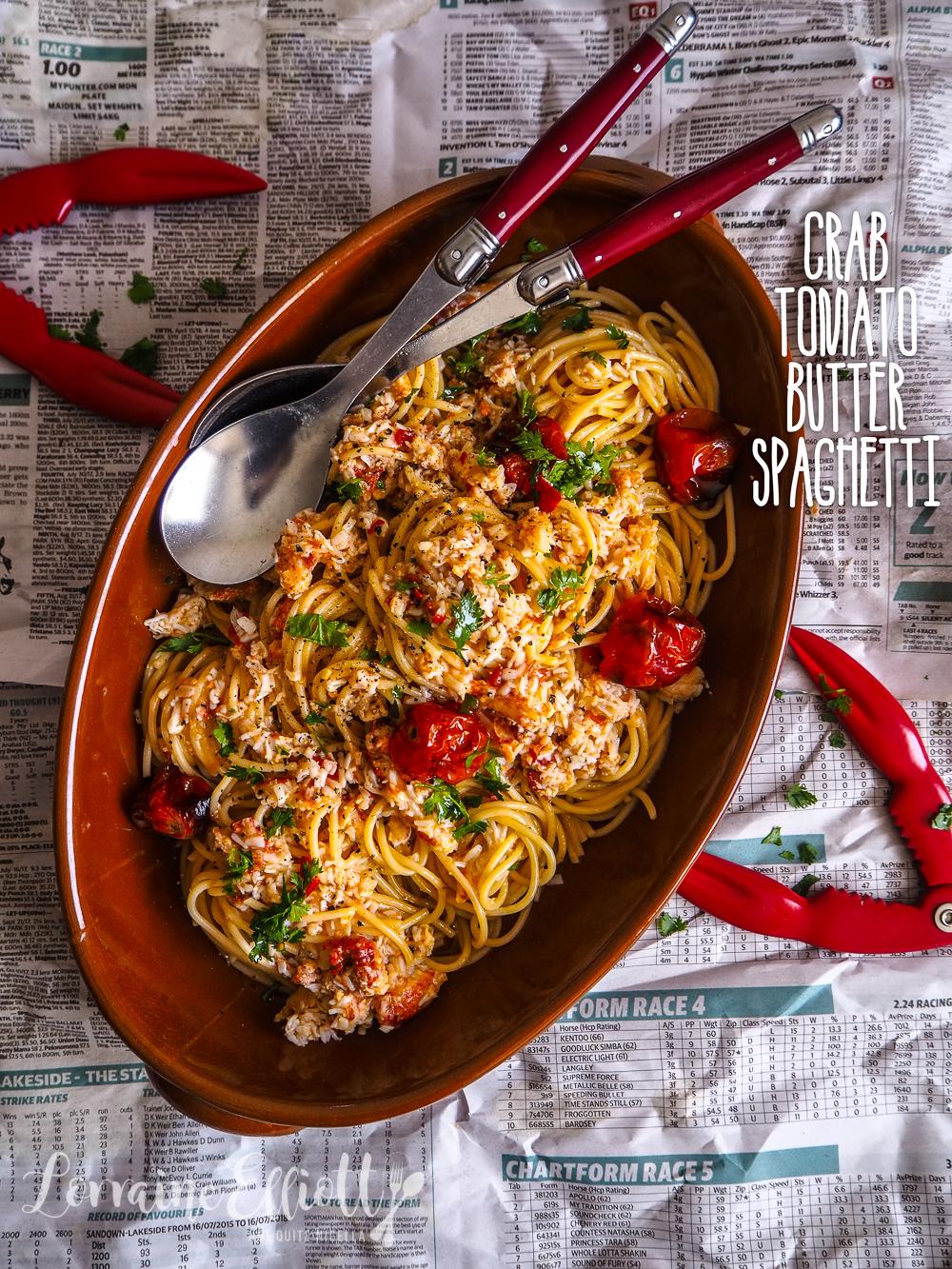 Crab & Tomato Butter Spaghetti