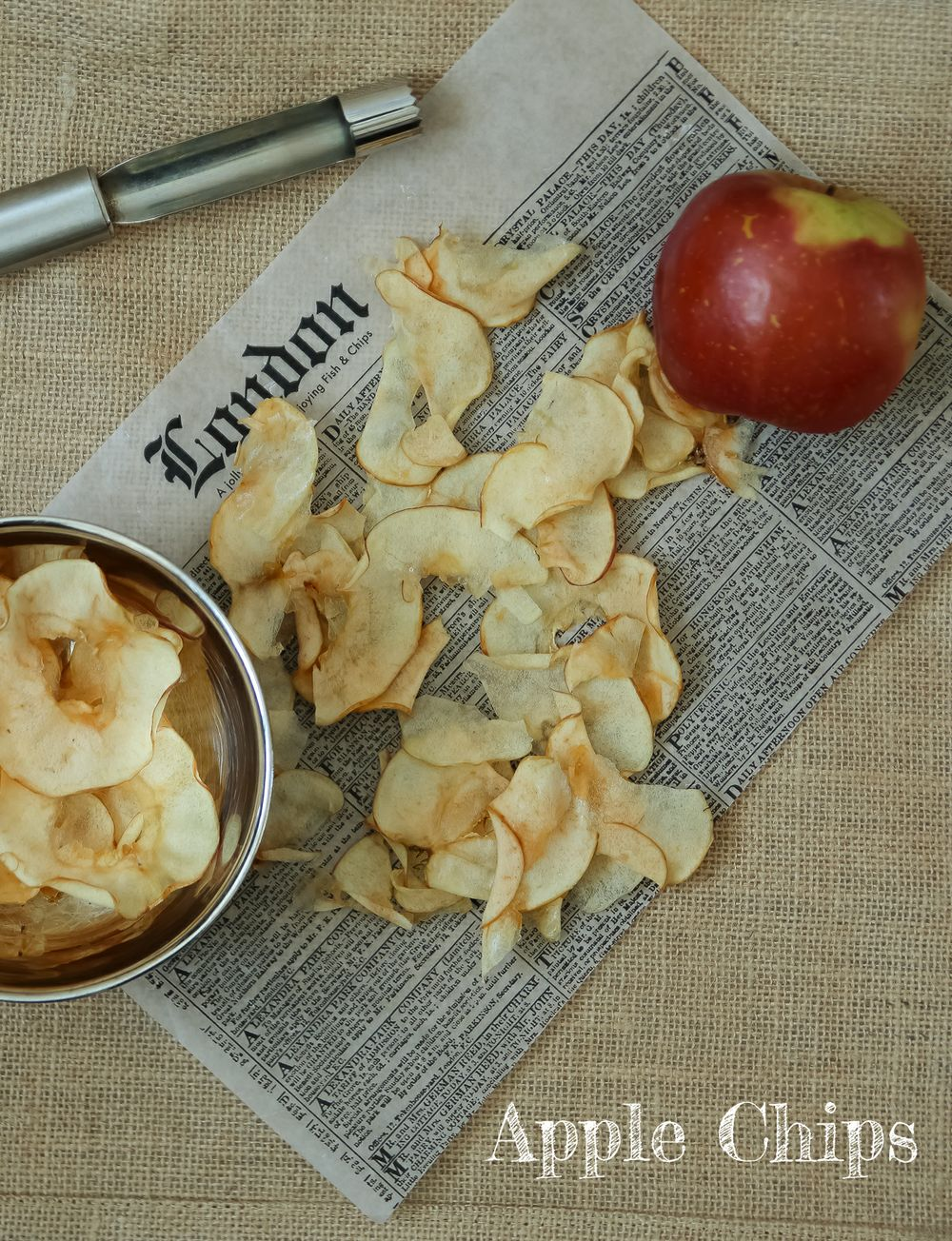 Crackling Crispy Apple Chips