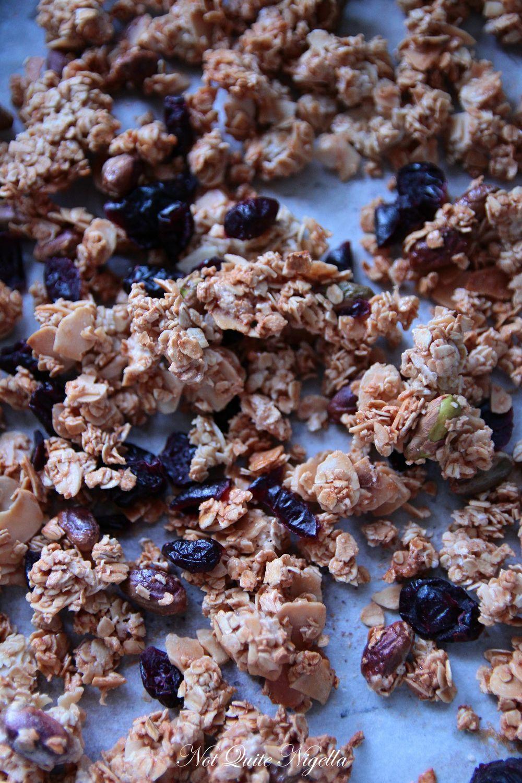 Cranberry Almond Oat Granola Clusters Not Quite Nigella