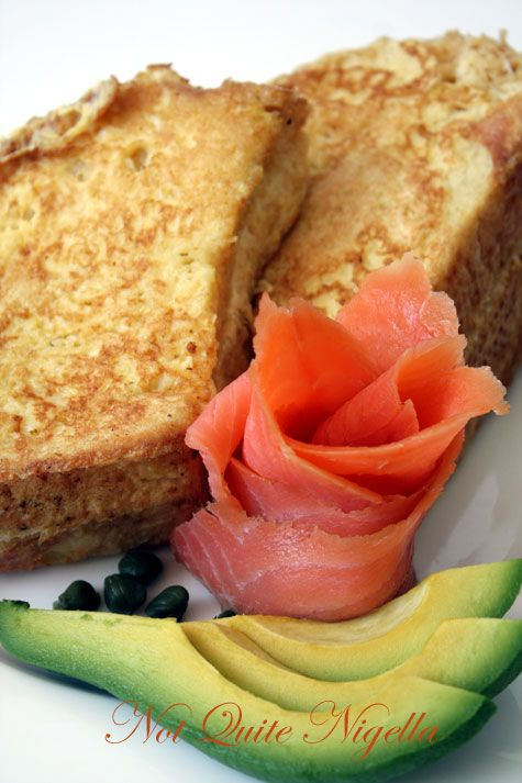 Cream Cheese French Toast with Smoked Salmon