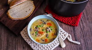 Cream Of Chicken Noodle Soup {Using Leftovers & Instant Pot}!