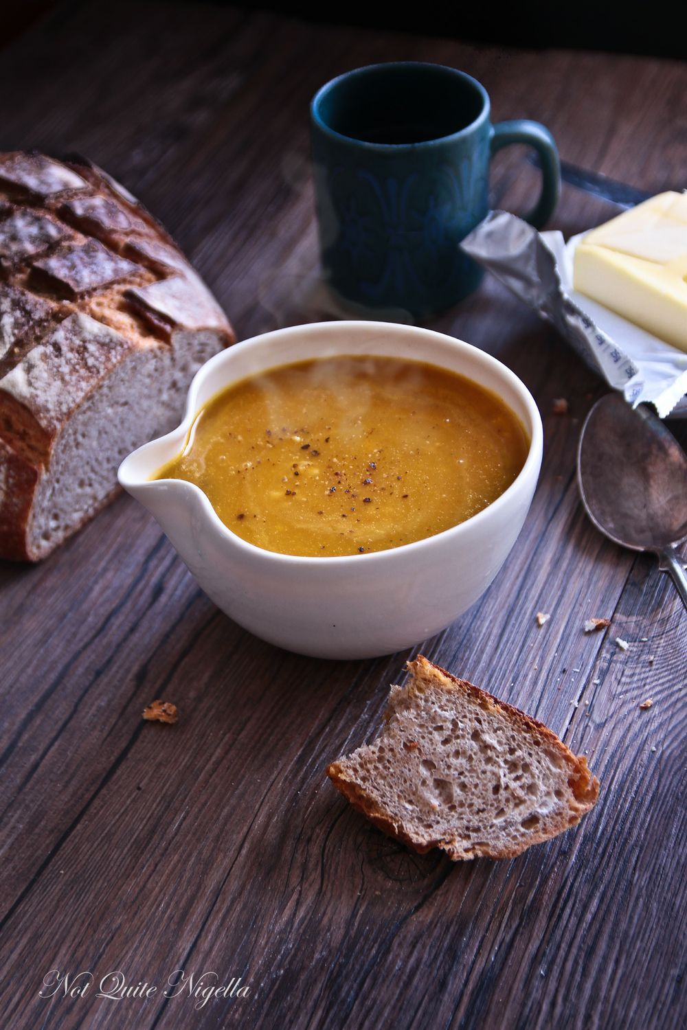 crab butternut squash soup
