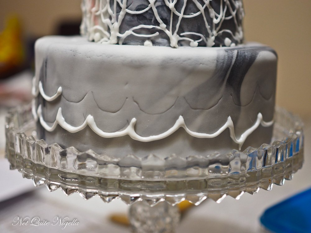 Creepy Elegant Halloween Wedding Cake