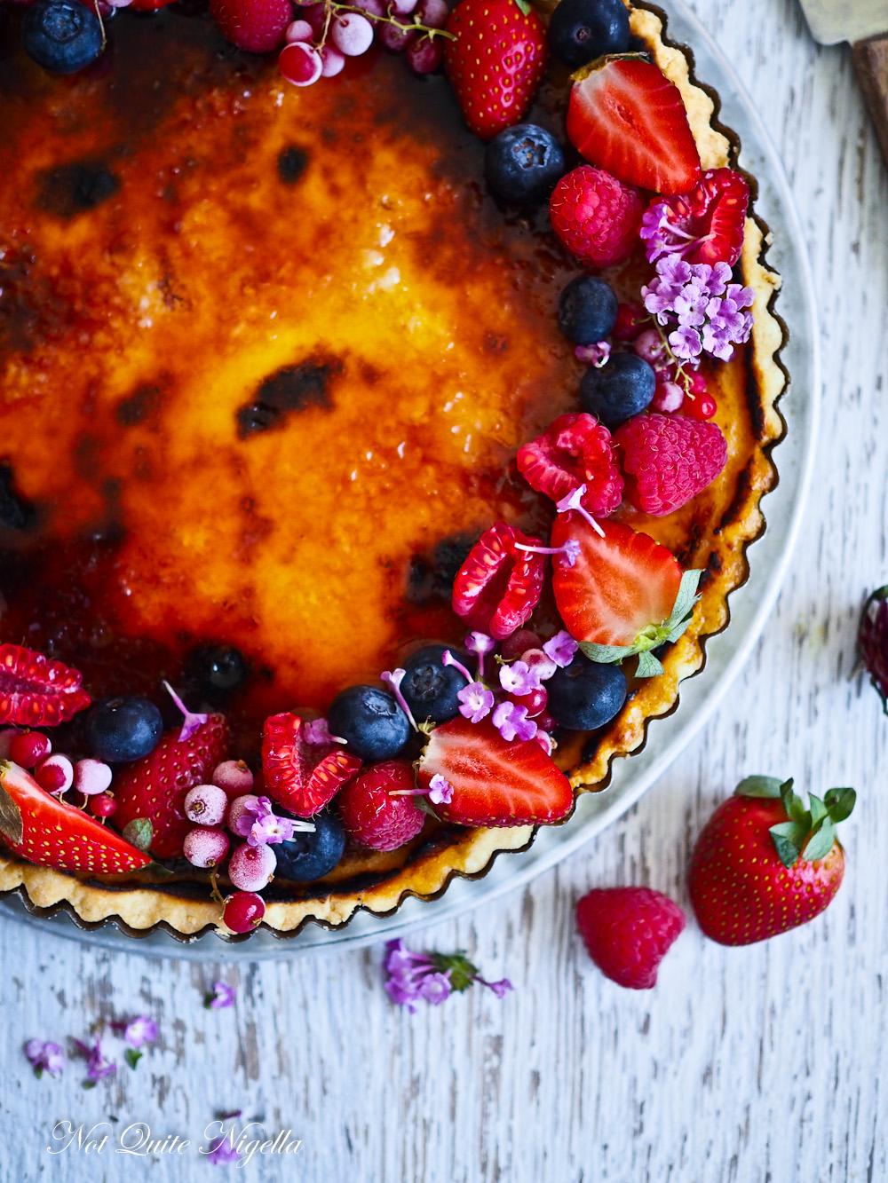 Creme Brulee Berry Tart