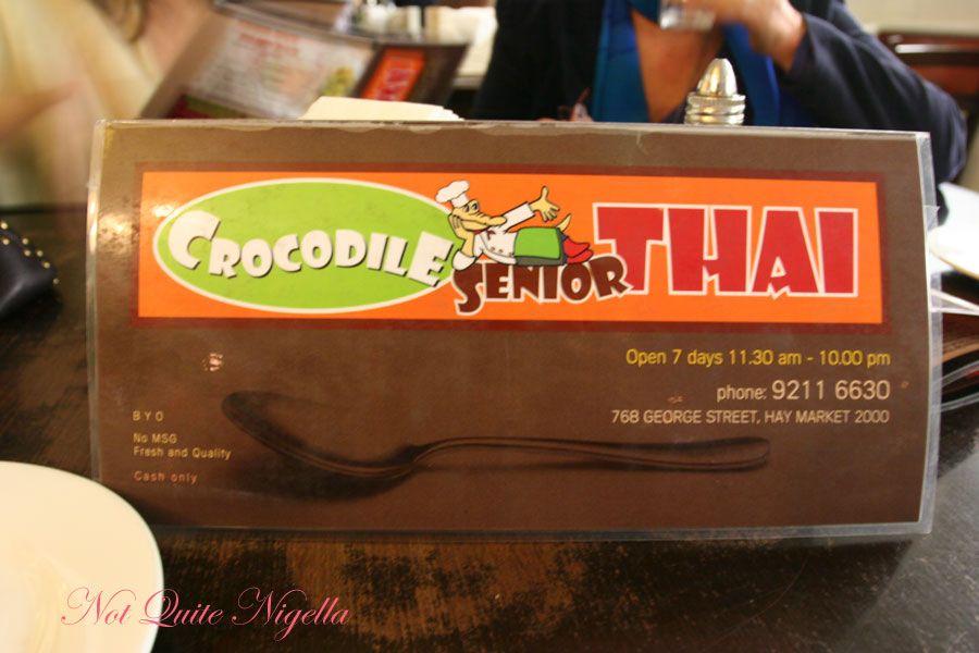 Crocodile Senior Thai at Haymarket