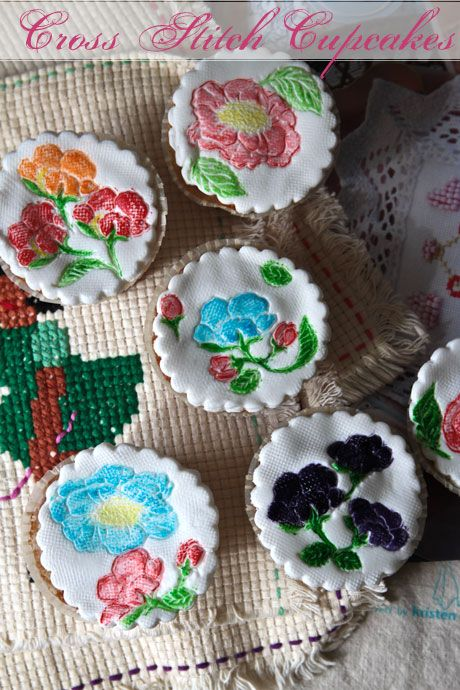 cross stitch cupcakes
