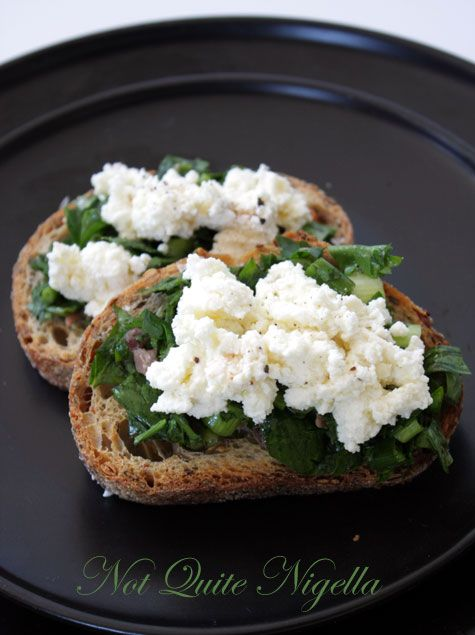 Crostini with Salsa Verde and Ricotta