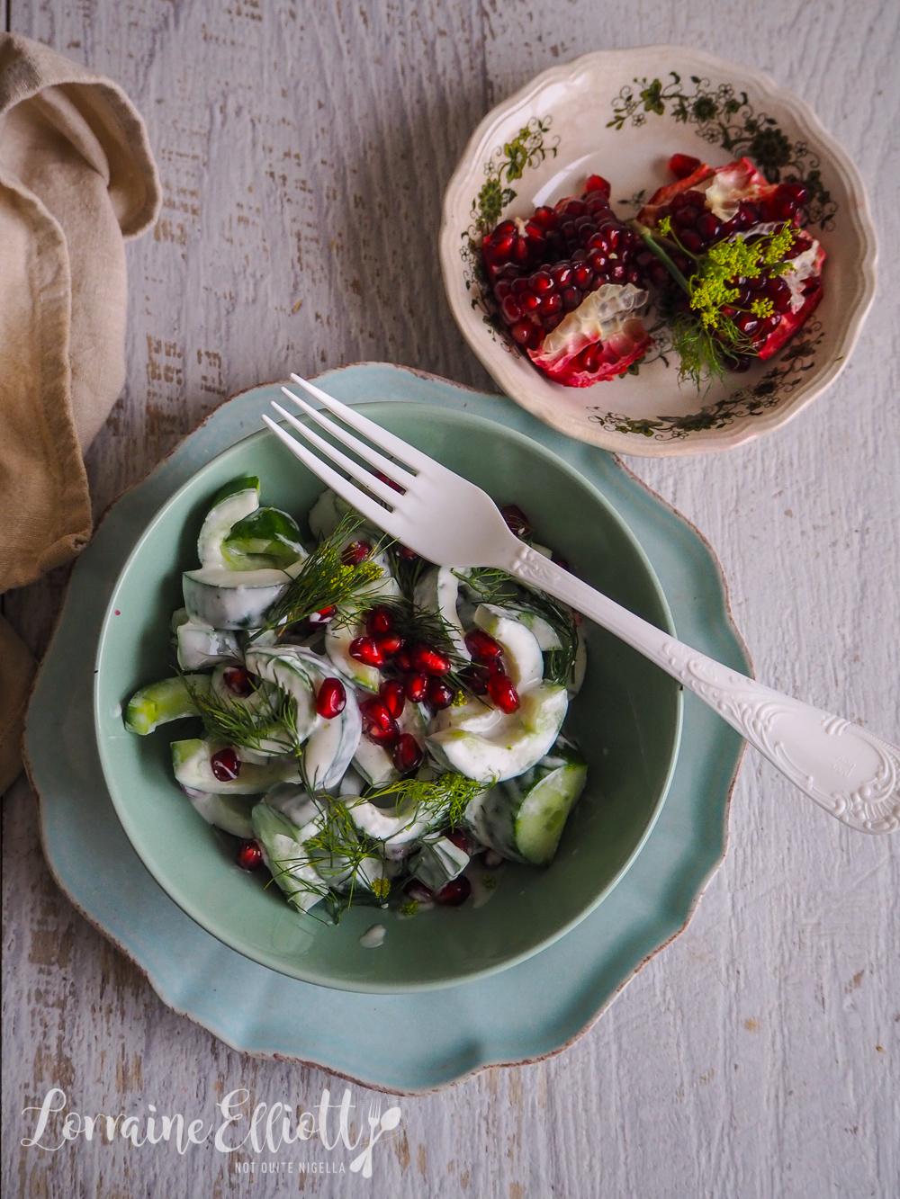 Cucumber & Pomegranate 5 Minute Salad