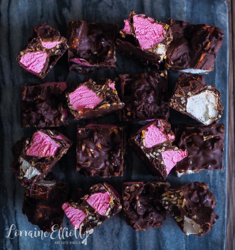 Dark Chocolate Rocky Road Almond Cranberries