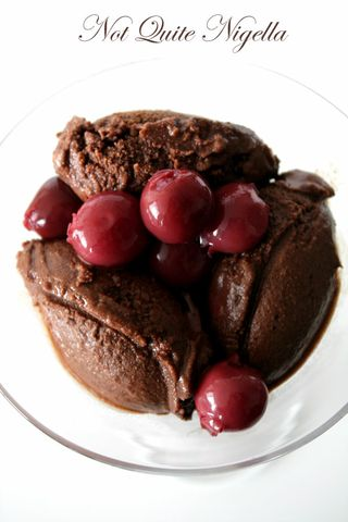 Dark Chocolate Sorbet with Sour Cherries and a Cuisinart Ice Cream Maker Road Test