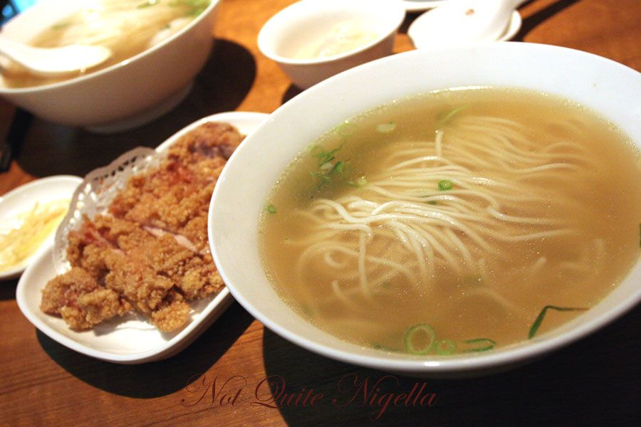 Din Tai Fung at World Square, Sydney Chicken chop noodle soup