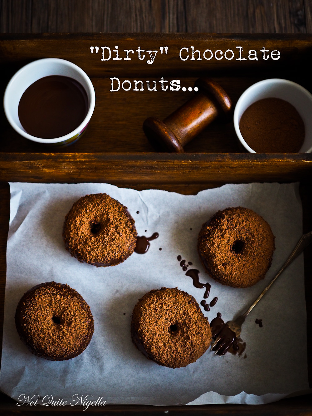 Dirty Chocolate Donuts