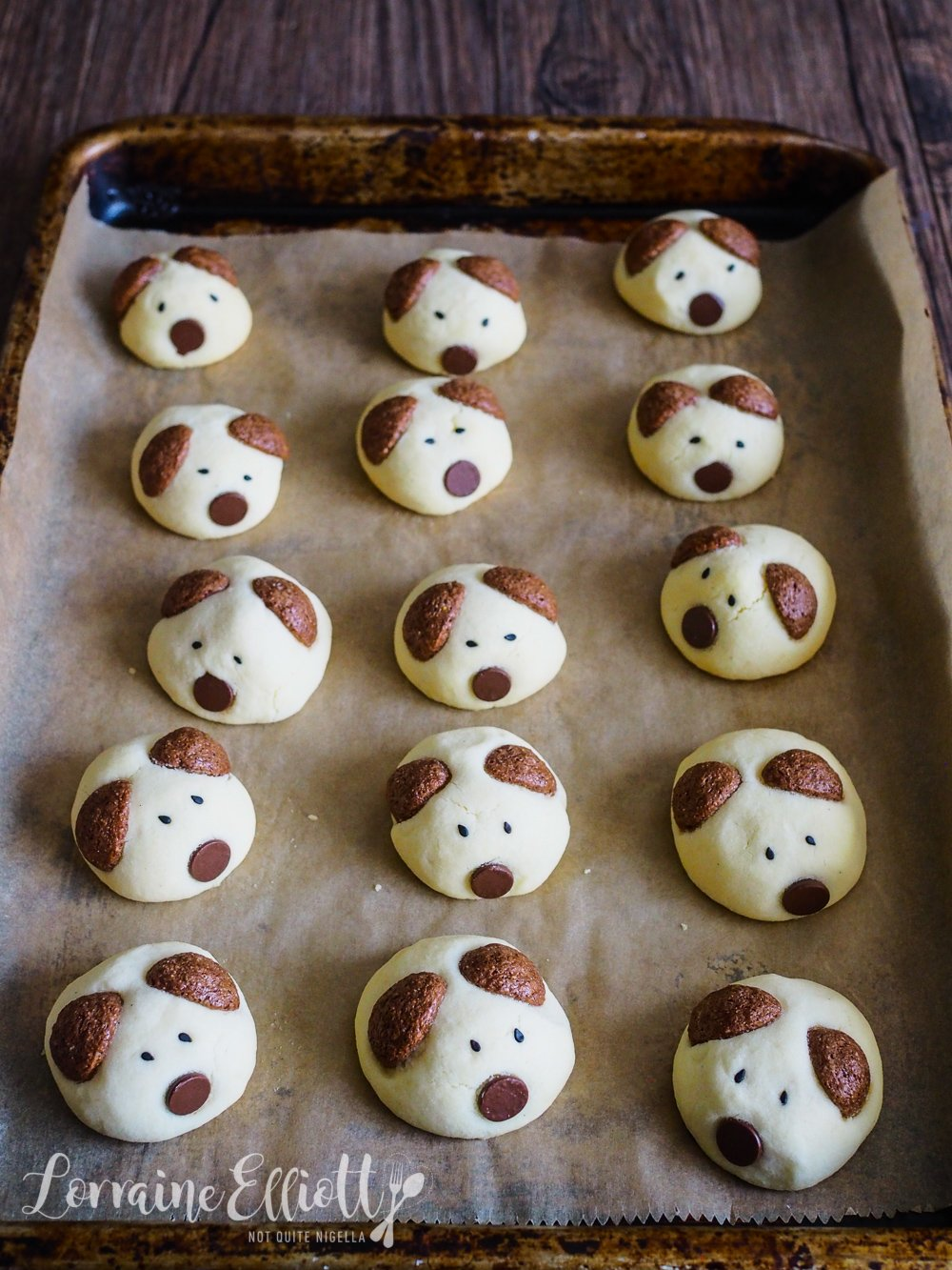 Dog Cookies easy Chinese New Year